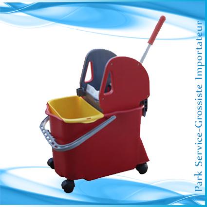 Chariot rectangulaire 2 Seaux+presse