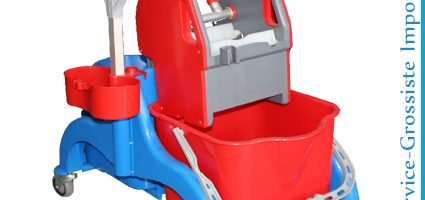 Chariot double 2 Seaux+presse support Pulverisateur