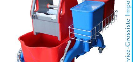 Chariot double 2 Seaux+presse