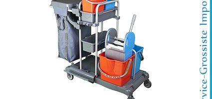 Chariot 4 Seaux+presse+2 paniers+sac